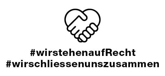 Banner #wirstehenaufrecht